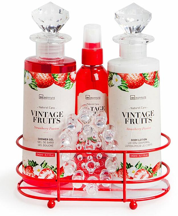 Set - IDC Institute Vintage Fruits (sh/g/240ml+b/lot/240ml+spray/120ml+soap/100g+massager) — foto N1