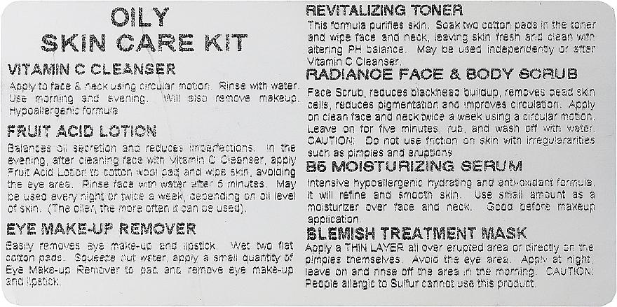 Set - Ofra Skin Care Kit Oily (cleanser/30ml + f/ton/30ml + eye/remover/30ml + ser/30ml + f/lot/30ml + b/scrub/7ml + f/mask/7ml + bag) — foto N4