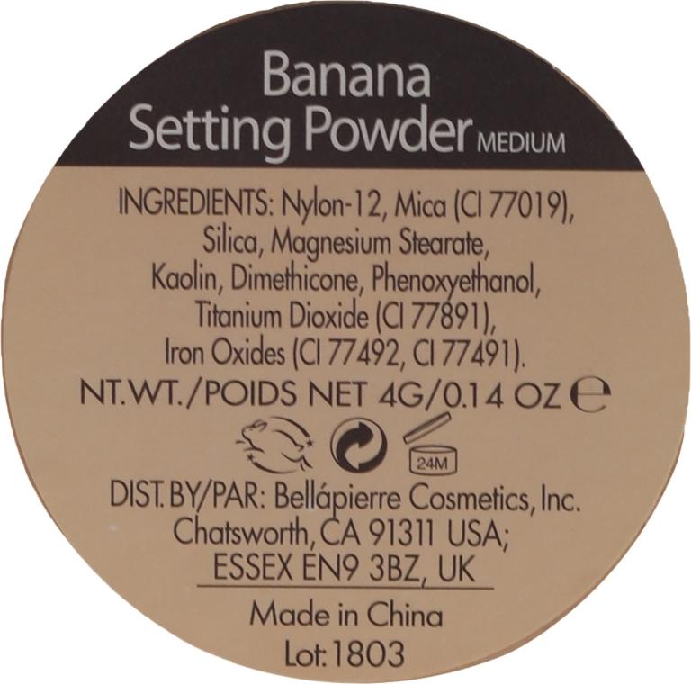 Polvere minerale-fissazione del trucco - Bellapierre Cosmetics Banana Setting Powder — foto N3