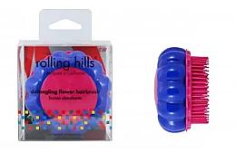 """Profumi e cosmetici Spazzola compatta per capelli """"Camomilla"""", blu / rosa - Rolling Hills Brosse Desenredar Flower"""