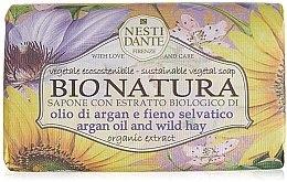 """Profumi e cosmetici Sapone """"Olio di argano e Fieno selvatico"""" - Nesti Dante Bio Natura Argan Oil & Wild Hay Soap"""