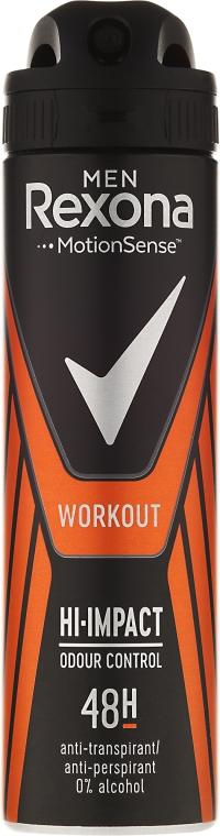 Deodorante spray - Rexona Men Motionsense Workout Hi-impact 48h Anti-perspirant — foto N1