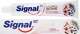 Profumi e cosmetici Dentifricio - Signal Long Active Nature Elements Clove Sensitive