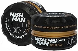 Profumi e cosmetici Cera per styling capelli - Nishman Hair Styling Wax 07 Gold One