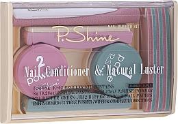 Profumi e cosmetici Set - P.Shine (n/paste/8g + n/puder/5g + n/pol/5pcs + n/file/1pcs + n/acc/1pcs)