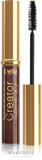 Correttore -gel per sopracciglia 4 in 1 - Delia Cosmetics Eyebrow Gel — foto Marrone