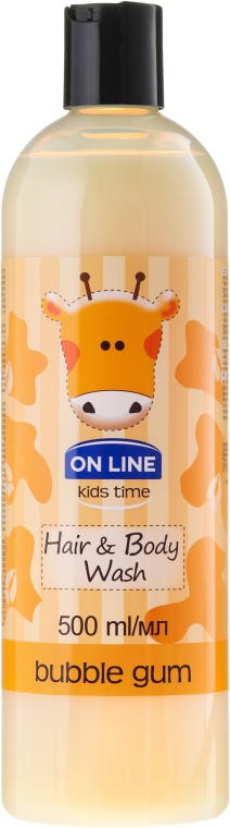 "Shampoo-gel doccia ""Chewing Gum"" - On Line Kids Time Hair & Body Wash Bubble Gum"