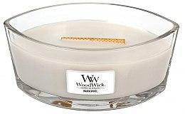 Profumi e cosmetici Candela profumata in vetro - WoodWick Hearthwick Flame Ellipse Candle Warm Wool