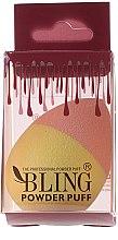 Profumi e cosmetici Spugna trucco, rosa giallo - Bling Powder Puff