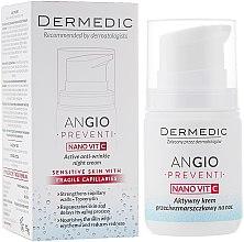 Profumi e cosmetici Crema notte anti-rughe, anti-arrossamento - Dermedic Angio Preventi Active Anti-Wrinkle Night