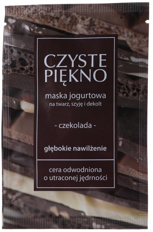"Maschera allo yogurt per viso, collo e décolleté ""Cioccolato"" 25+ - Czyste Piekno Chocolate Face Mask"