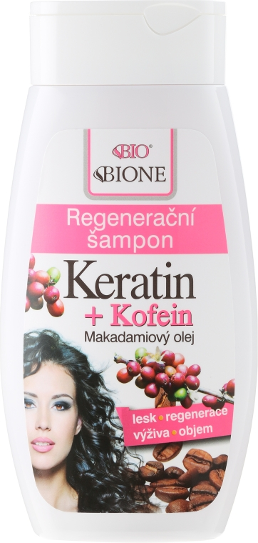 Shampoo capelli rigenerante - Bione Cosmetics Keratin + Caffeine Regenerative Shampoo