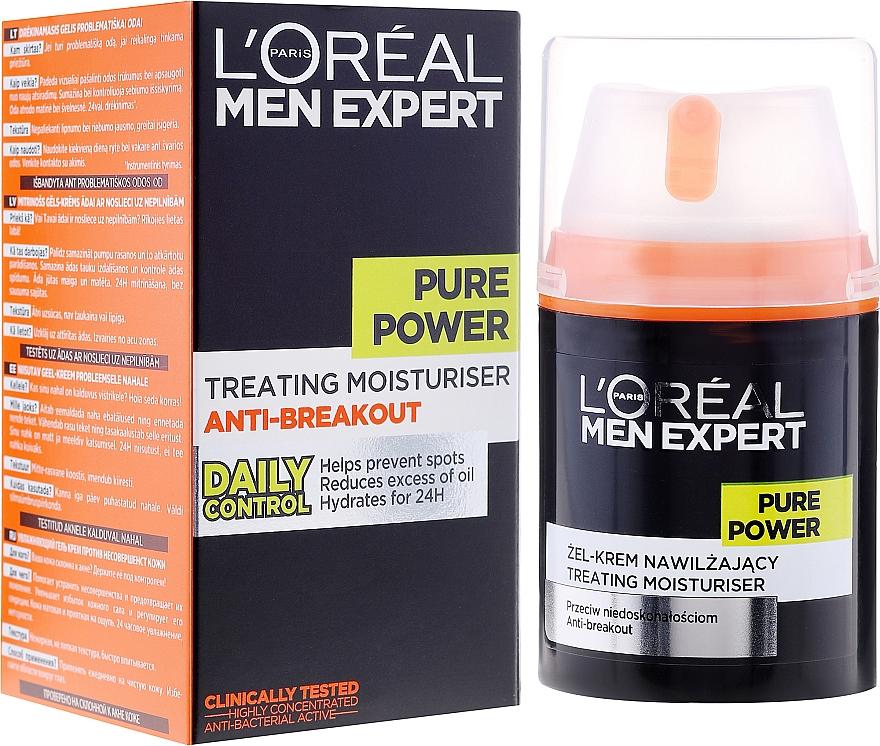 Gel-crema viso anti-imperfezioni della pelle - L'Oreal Paris Men Expert Pure Power