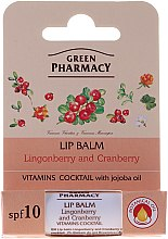 Balsamo labbra all'ossicocco e mirtillo rosso SPF 10 - Green Pharmacy Lip Balm With Lingonberry And Cranberry — foto N2
