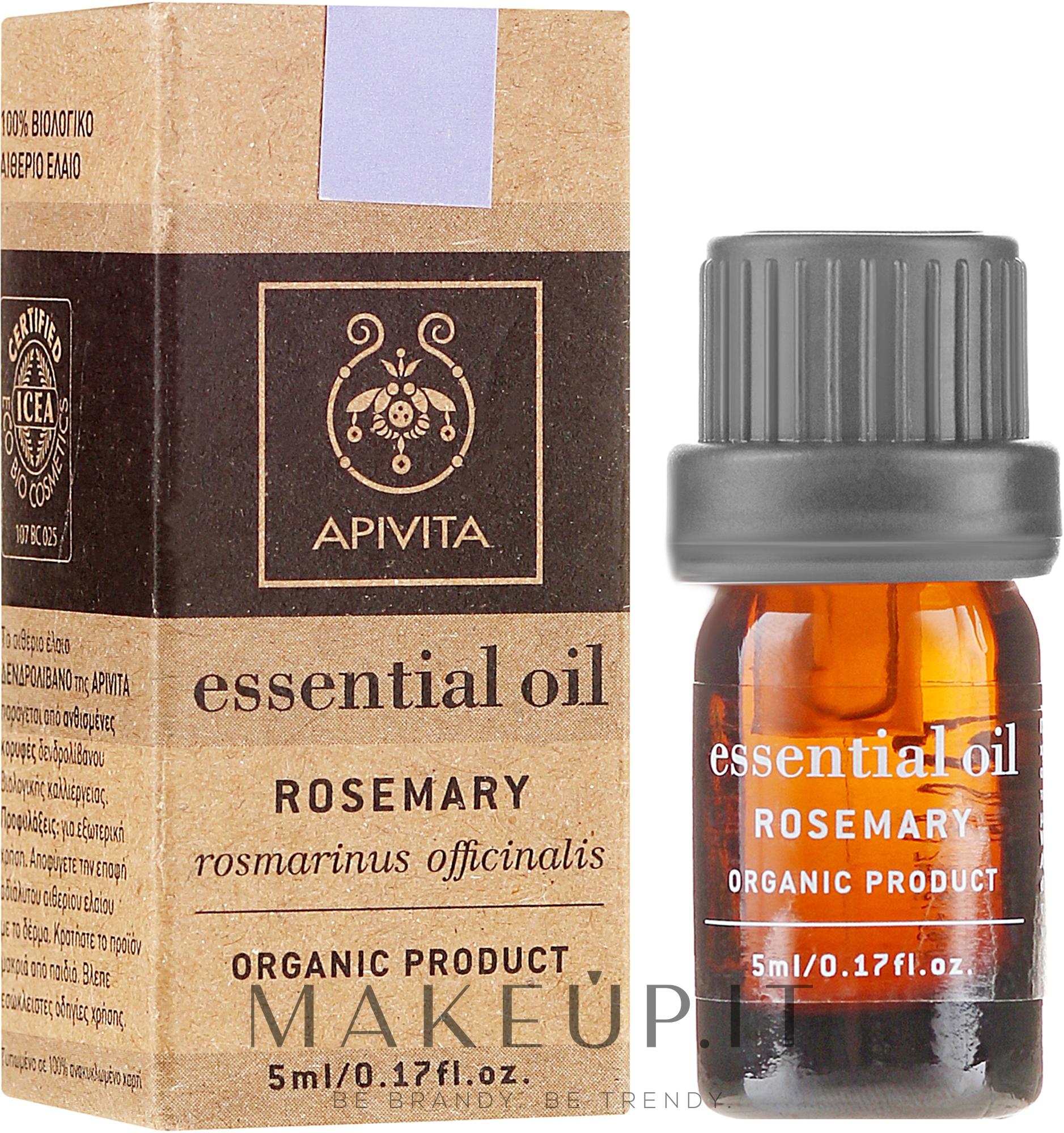 "Olio essenziale ""Rosmarino"" - Apivita Aromatherapy Organic Rosemary Oil — foto 5 ml"