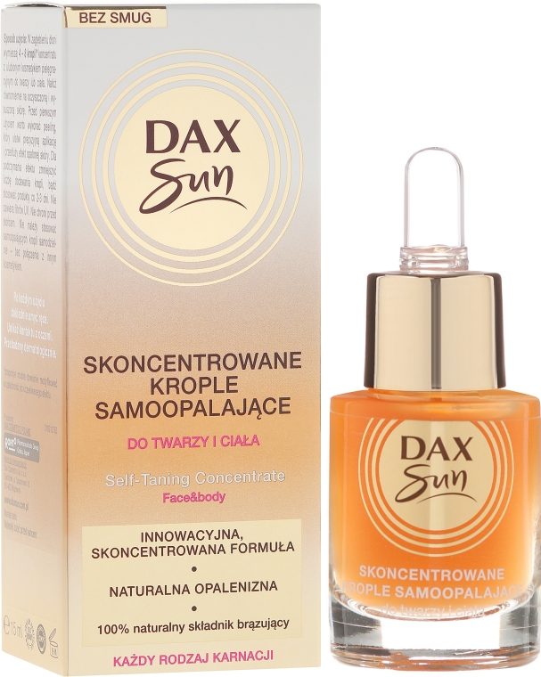 Concentrato autoabbronzante - Dax Sun Self-tanning Concentrated Drops