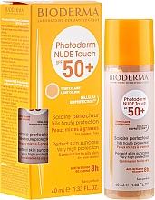 Profumi e cosmetici Crema solare - Bioderma Photoderm Nude Touch Golden Color Spf 50+