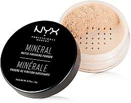Profumi e cosmetici Cipria finish minerale - NYX Professional Makeup Mineral Matte Finishing Powder