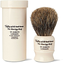 Profumi e cosmetici Pennello da barba, 8,5 cm, con custodia da viaggio - Taylor of Old Bond Street Shaving Brush Pure Badger