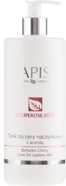Tonico viso delicato con estratto di acerola anti-rosacea - Apis Professional Couperose-Stop Barbados Cherry Tonner