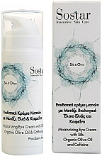 Profumi e cosmetici Crema idratante alla seta e alle olive per contorno occhi - Sostar Silk & Olive Moisturizing Eye Cream