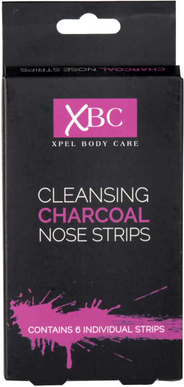 Strisce carbonizzate per naso - Xpel Marketing Ltd Body Care Cleansing Charcoal Nose Strips