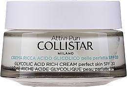 Profumi e cosmetici Crema satura di acido glicolico per una pelle perfetta - Collistar Pure Actives Glycolic Acid Rich Cream SPF20