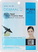 "Profumi e cosmetici Maschera con collagene e estratto di ""nido d'uccello"" - Dermal Bird's Nest Collagen Essence Mask"