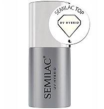 Profumi e cosmetici Top Coat - Semilac UV Hybrid
