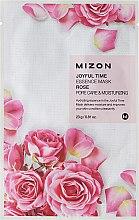 Profumi e cosmetici Maschera in tessuto con estratto di rosa - Mizon Joyful Time Essence Mask Rose