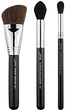 Profumi e cosmetici Set pennelli trucco, T305, 3 pezzi - Jessup