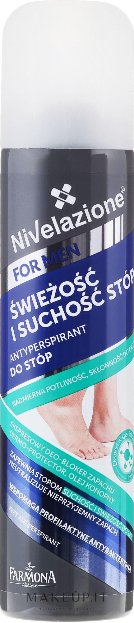 Deodorante piedi - Farmona Nivelazione For Men Feet Antiperspirant — foto 180 ml