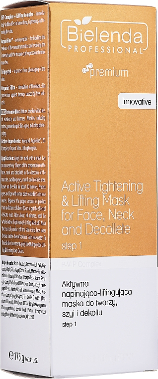 Maschera rassodante per viso, collo e décolleté - Bielenda Professional Premium Total Lifting PPV+ Mask