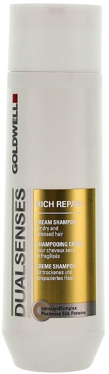 Shampoo rigenerante per capelli secchi e danneggiati - Goldwell Dualsenses Rich Repair Cream Shampoo