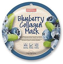 Profumi e cosmetici Maschera al collagene e mirtillo - Purederm Blueberry Collagen Mask
