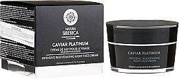 Profumi e cosmetici Crema viso rivitalizzante intensiva - Natura Siberica Caviar Platinum Intensive Rejuvenating Night Face Cream