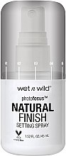 Profumi e cosmetici Spray fissante trucco - Wet N Wild Photofocus Natural Finish Setting Spray
