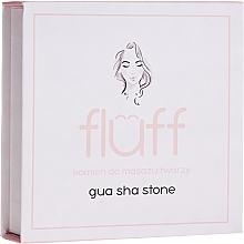 Profumi e cosmetici Pietra da massaggio viso, rosa - Fluff Gua Sha Stone