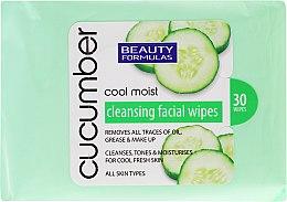 Profumi e cosmetici Salviette struccanti - Beauty Formulas Cucumber Cleansing Facial Wipes
