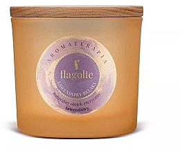 "Profumi e cosmetici Candela profumata in bicchiere ""Lavanda"" - Flagolie Fragranced Candle Lavender Relax"