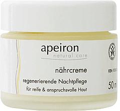 Profumi e cosmetici Crema rigenerante nutriente - Apeiron Nourishing Regenerating Night Cream