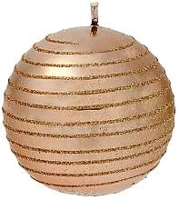 Profumi e cosmetici Candela decorativa, palla, oro rosa, 8 cm - Artman Glamour