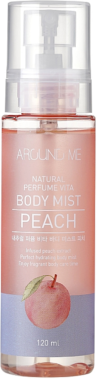 "Mist corpo ""Pesca"" - Welcos Around Me Natural Perfume Vita Body Mist Peach"