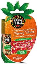 """Profumi e cosmetici Balsamo labbra """"Arancia e Fragola"""" - Farmona Tutti Frutti Peeling Lip Balm Orange & Strawberry"""