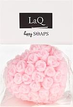 """Profumi e cosmetici Sapone naturale fatto a mano """"Cuore con rose"""" con aroma di ciliegia - LaQ Happy Soaps Natural Soap"""