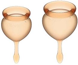 Profumi e cosmetici Set coppette mestruali con coda a goccia, arancione - Satisfyer Feel Good Menstrual Cup Orange