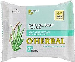 Profumi e cosmetici Sapone naturale con estratto di aloe vera e argilla verde - O'Herbal Natural Soap