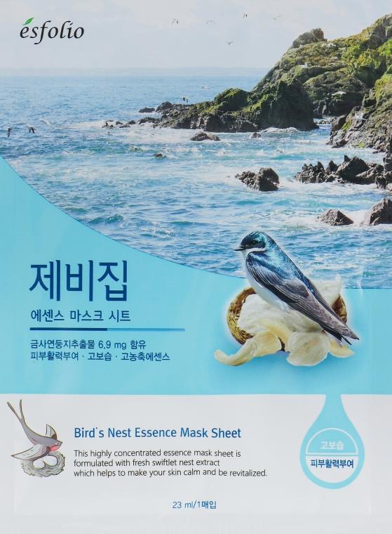 "Maschera in tessuto ""Nido di rondine"" - Esfolio Bird's Nest Essence Mask Sheet"