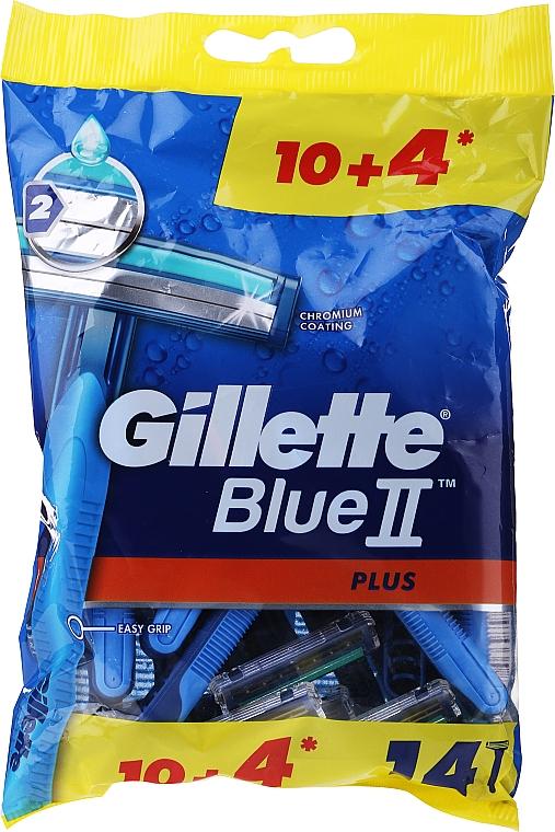 """Set rasoi """"Usa e geta"""", 10 + 4 pezzi - Gillette Blue II Plus"""