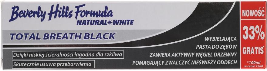 Dentifricio - Beverly Hills Formula Natural White Total Breath Black